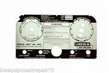Lincoln SA-200 Blackface Welder Replacement Faceplate L-5750 BW121