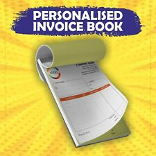 More details for personalised duplicate a5 invoice book - 50 set - ncr pad print - invoice print