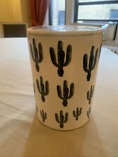 Watercolor Cactus Canister