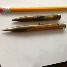 2 Antique Chatelain  MECHANICAL Pencil PENDANT //  PENCIL Clip // around 1900