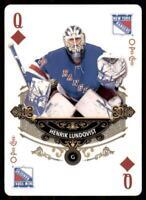 2020-21 UD O-Pee-Chee Playing Cards Q-DIAMONDS Henrik Lundqvist New York Rangers
