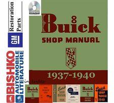 1937 1938 1939 1940 Buick Mechanic Workshop Service Repair Manual CD Factory OE
