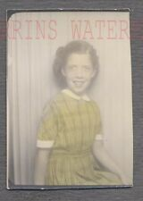 Vintage Hand Tinted Color Photo Cute Girl in Photobooth 711435