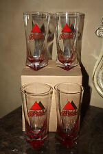 *NEW IN BOX*4-PACK  BASS ALE 16OZ RED TRIANGLE BASE BEER GLASSES FREE SHIPPING!!