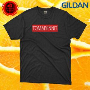 New Tommyinnit in red Logo Black Cotton Mens Woman Gildan