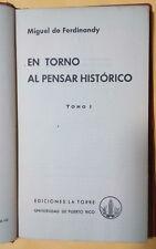 En torno al pensar histórico - Miguel de Ferdinandy - 1961