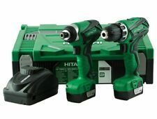 Hitachi KC10DFL2 10.8v Impact Driver and Drill Twin Kit