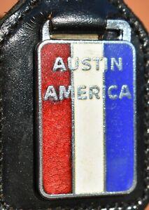 Alter emaillierter AUSTIN AMERICA Schlüsselanhänger