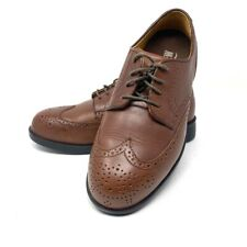 Drew Clayton Mens Wing Tip Oxford Shoes Brown Leather Lace Up 40454-82 9.5 W