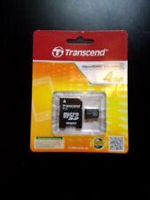 Transcend, Class 4 Micro SDHC Card, 4GB