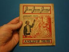 Jim Jam Jems, January 1923, A Volley of Truth- Jim Jam Junior, Illustrated