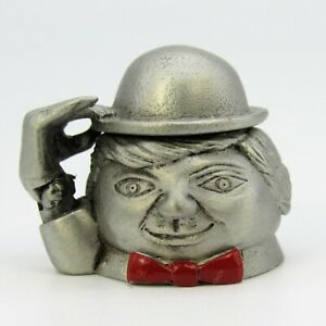 COLLECTABLE PEWTER THIMBLE MAN IN BOWLER HAT