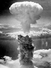 Framed Print - Atomic Bomb Mushroom Clouds Over Hiroshima Japan 1945 (Picture)