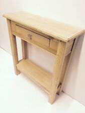 CHUNKY OAK HALL TABLE / SOLID 1 DRAWER SIDE CONSOLE TELEPHONE UNIT SHELF