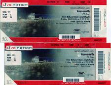 2 UNUSED VIP TICKETS TO SEE AEROSMITH 8 28 09 W/ ZZ TOP