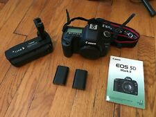GOOD Canon EOS 5D Mark II 21.1MP Digital SLR Camera - Black w/ BG-E6 Grip!