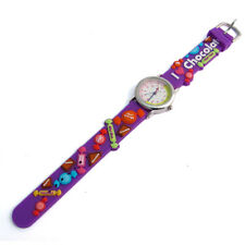 Ravel Kids Childrens girls Watch Chocolate Sweets motif silicone band