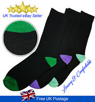 43-46 6/_Pairs of Men/'s Cotton Rich Doted Socks Black Size 9-12