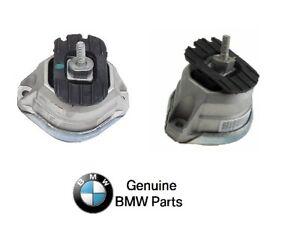 For BMW E60 E63 545i 04-10 Pair Set of 2 Right/Left Engine Motor Mounts Genuine