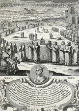 Roi Louis X Panettieri Pain Carestia Incisione originale Nicolas de Fer 1722