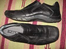 MENS 12 M STEVE MADDEN RULE BLACK LEATHER DRIVING CASUAL DRESS SHOES LOAFERS
