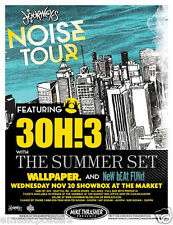 3OH!3 /THE SUMMER SET /WALLPAPER /NEW BEAT FUND 2013 SEATTLE CONCERT TOUR POSTER