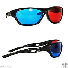 3D Glasses Anaglyph Glasses Red and Blue Lenses Wrap TV Video Games