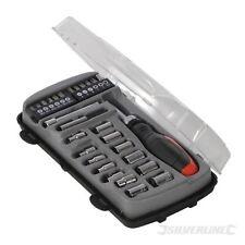 SOFT GRIP RATCHET SCREWDRIVER SOCKET & DRIVER SET 28piece 4mm to 13mm SOCKETS