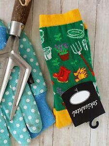 Womens Gardening Socks (Pair) Fun Novelty Socks (Size: UK 3.5-6.5)