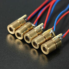 3Pcs DC 3V-5V 5mW 650nm 6mm Red Copper Head Tube Laser Dot Diode Module