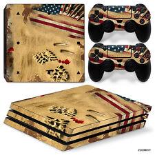 PS4 Pro Playstation 4 Console Skin Decal Sticker Desert War Custom Design Set