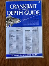 1991 Crankbait Trolling Depth Guide By Mike McClelland EX Condition