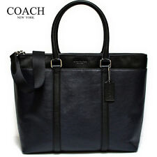 NWT COACH MENS PERRY BUSINESS TOTE IN SMOOTH LEATHER, F54758, BLACK