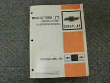 1967 1968 1969 1970 1971 1972 Chevy Camaro Chassis & Body Parts Catalog Manual