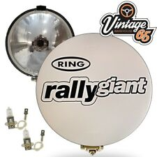 """Austin Mini Clubman Ring Rally Giants Pair 7"""" Driving Spot Lamps With Covers"""