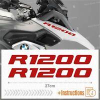 2pcs Adesivi Rosso compatibile Moto BMW R 1200 GS LC R1200 ADVENTURE R1200GS