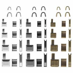 12 Set Zipper Repair Zipper Stopper Open End Metal for Tailor Sewing Fabric