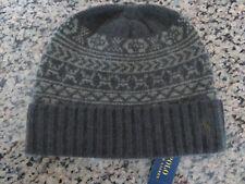 Polo RALPH LAUREN Fair Isle Merino Wool Beanie Cuffed Skull Ski Cap Hat