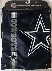 Dallas Cowboys NFL Team Drawstring Gym Bag Tote Nylon Backpack NEW