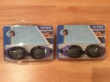 New listing 2 pairs of Intex Swim Goggles Ages 8+. Black/Purple Polycarbonate Uv Protection