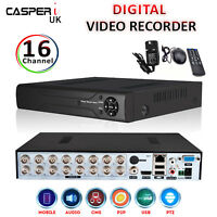 CCTV 16 Channel DVR 1080p Digital Video Recorder Real Time Security Mobile View
