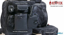 Kryptek Typhon Cordura Ballistic Tactical Front Seat Covers for Toyota Tundra