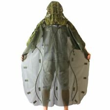 Cotton Tactical Sniper Ghillie Hood Back Cape Hunting Airsoft Paintball Military