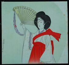 Old Mysterious Shrine Maiden's Ceremonial Dance Japanese Wood Block Print