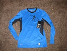 Nike Mens HyperCool Fitted Pro Combat Griffey Swingman Shirt Blue Black Large