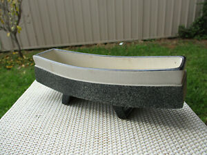 Mid Century Ikebana Vase Pottery Atomic Footed Planter Japan Table Centrepiece