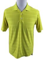 NEW Adidas ClimaCool Stripe Golf Polo Shirt MENS SMALL Yellow Polyester