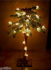 18 inch Lighted Mini TableTop Christmas Palm Tree  35 lights each / Table Top /