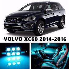 10pcs LED ICE Blue Light Interior Package Kit for VOLVO XC60 2014-2016