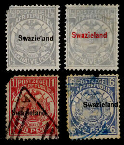 SWAZILAND, BRITISH: 19TH CENTURY CLASSIC ERA STAMP COLLECTION OVERPRINTS FAULTS